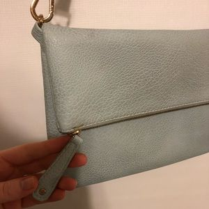 Francesca's Light Blue Leather Cross Body Bag